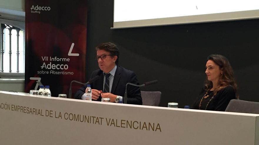 Imagen de la presentación del informe de Adecco