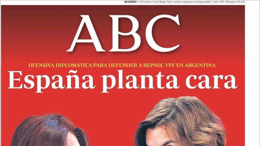 Portada de ABC, 14 de abril de 2012.