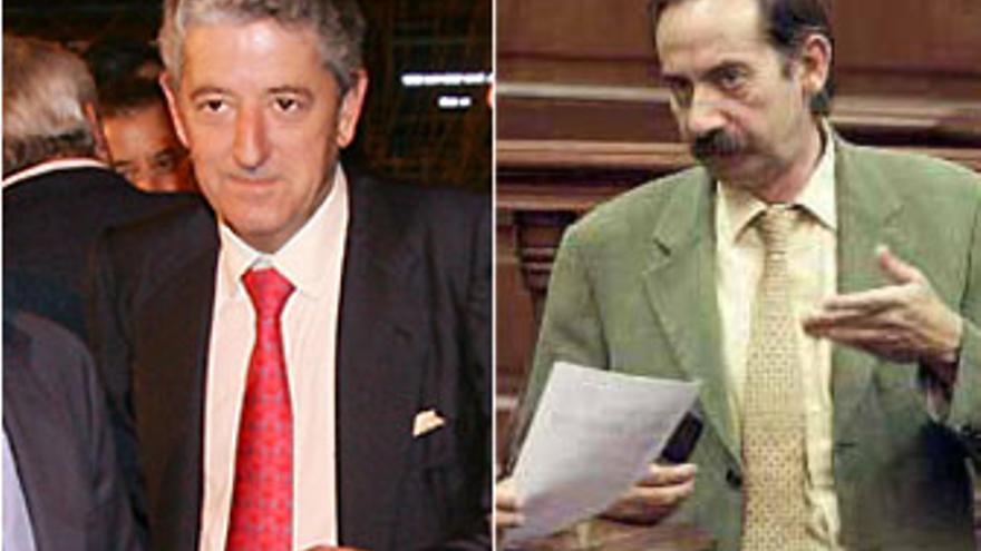 Jaime Cortezo, promotor de Hoya Pozuelo, y Julio Bonis, ex consejero del Gobierno y amigo personal del empresario.