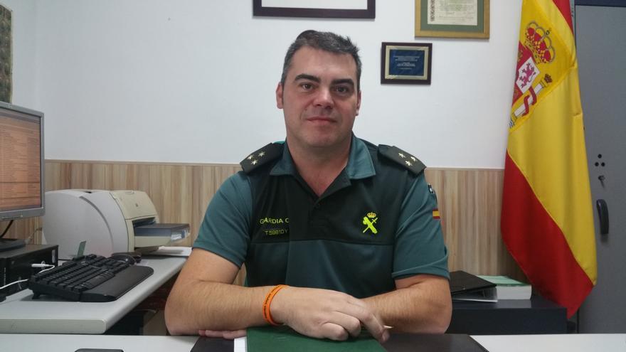 Ángel Cervero es el capitán de la Guardia Civil en La Palma.