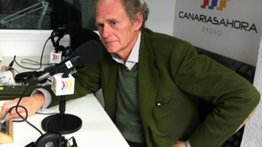 Tomás van de Walle, este miércoles en los estudios de CANARIAS AHORA RADIO.