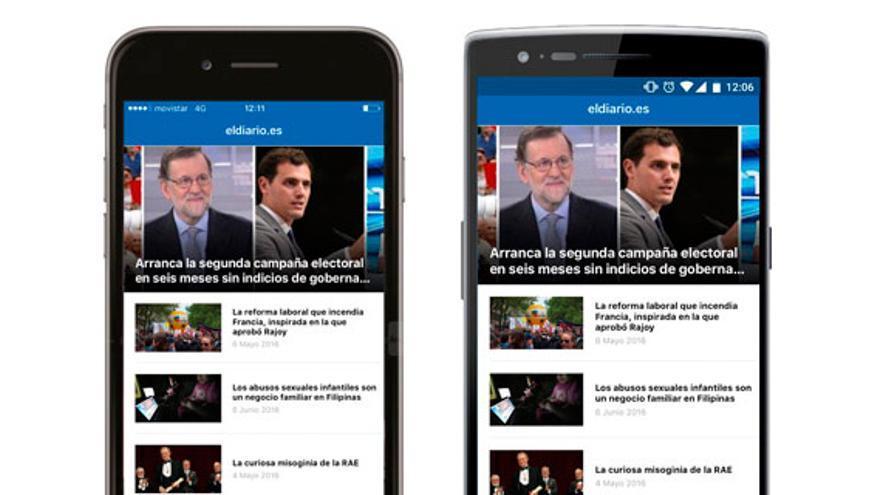App de eldiario.es en iPhone y Android