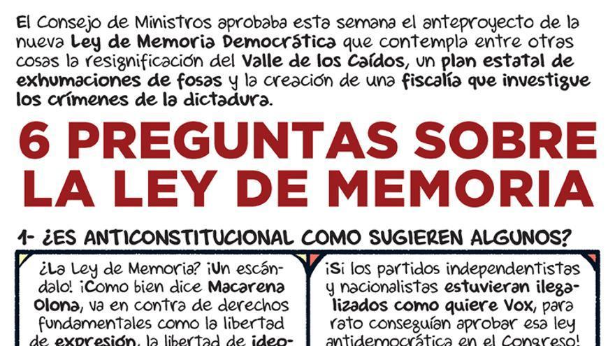 Seis preguntas sobre la Ley de Memoria