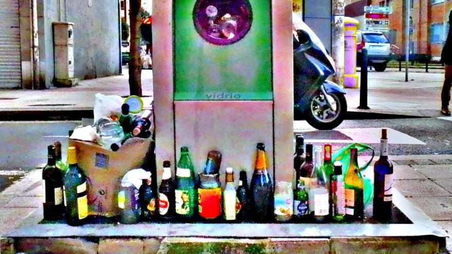 Contenedor de recogida neumática de basura.   RAFAEL PÉREZ LLANO