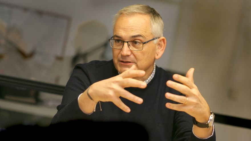 Josep Vicent Boira durante la entrevista.