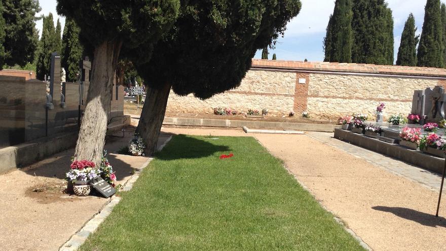Fosa común del cementerio de Guadalajara sobre la que va destinado el espacio de memoria democrático