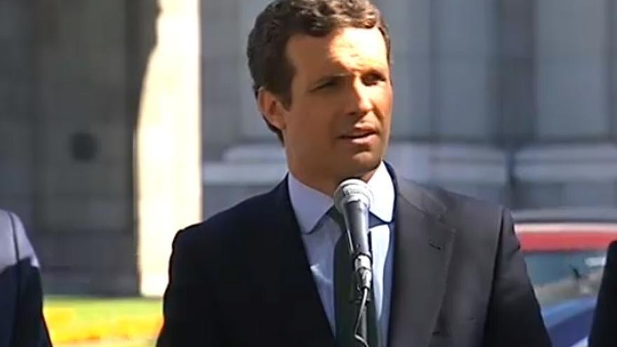 """Casado: Iceta dice """"la verdad"""" porque ese es """"el programa electoral de Sánchez"""""""