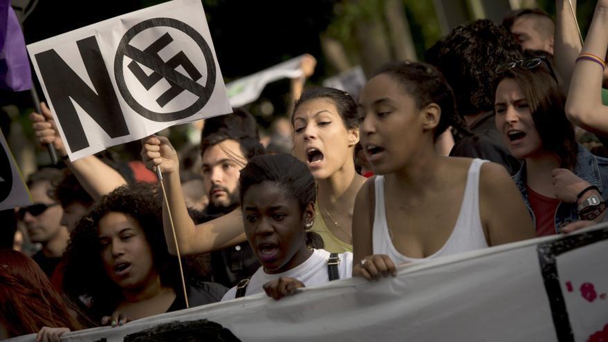 Imagen de archivo de una manifestación en Madrid contra el fascismo, el racismo, el machismo y toda forma de discriminación