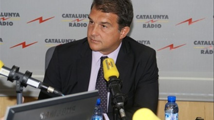 El Expresidente Del FC Barcelona Joan Laporta