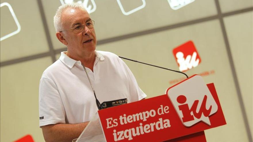 """Cayo Lara subraya que la polarización en Cataluña es """"muy ajustadita"""""""