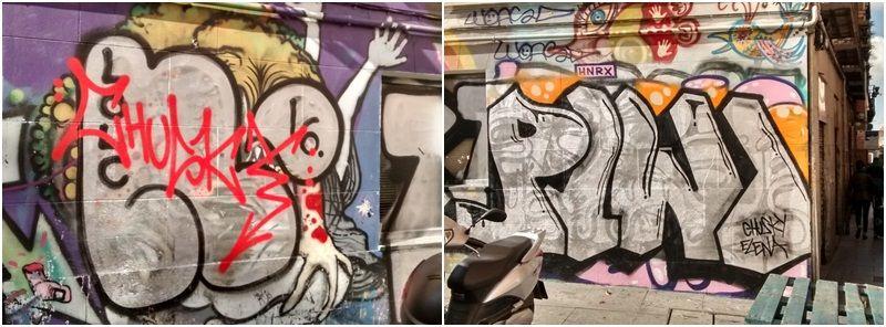 Firmas de Chusky y Piwi en el muro | SOMOS MALASAÑA