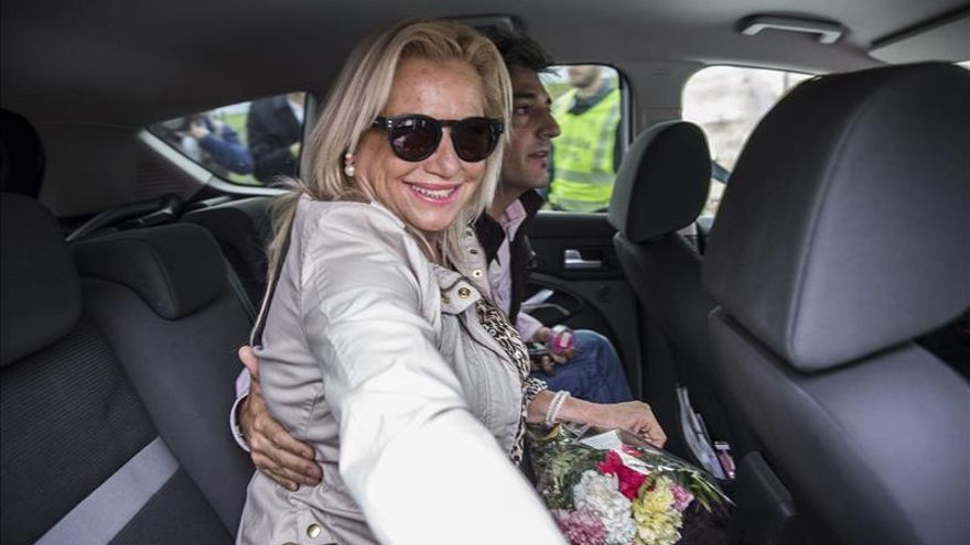 Maite Zaldívar vuelve a la cárcel tras cumplir su primer permiso de seis días