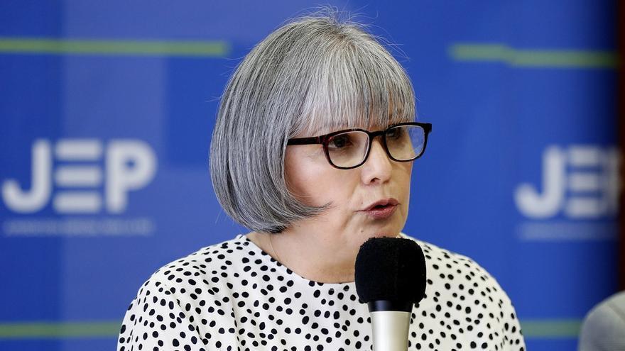 En la imagen, la presidenta de la Justicia Especial de Paz (JEP), Patricia Linares.