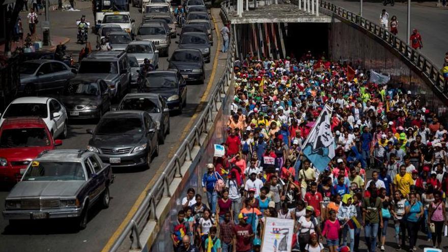 El chavismo se moviliza en defensa de la soberanía de Venezuela