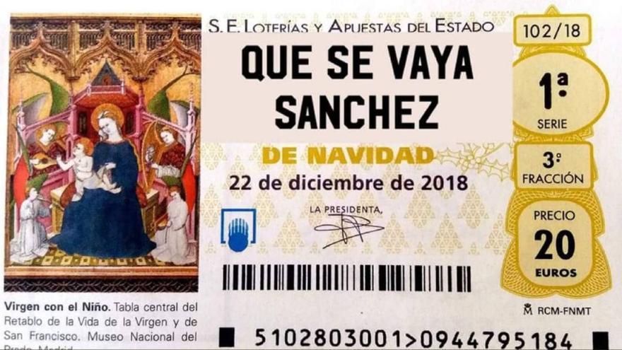 El décimo de Lotería de Navidad al que juega Teodoro García Egea en Twitter