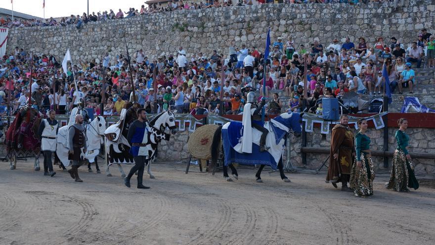 Imagen del Palenque donde tienen lugar las populares Justas medievales del Festival de Hita