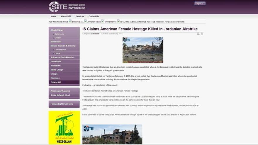 EE.UU. todavía no puede confirmar que una rehén murió en un ataque contra el EI