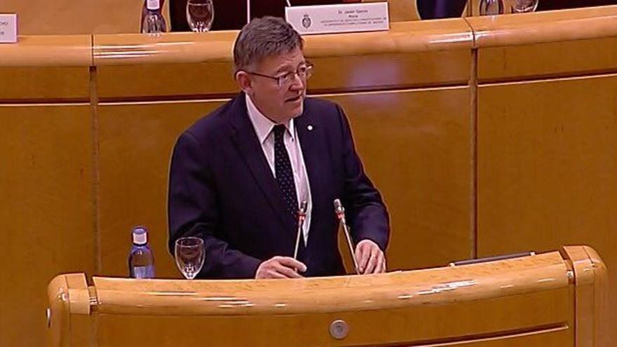 El president de la Generalitat, Ximo Puig, en el foro de las autonomías del Senado
