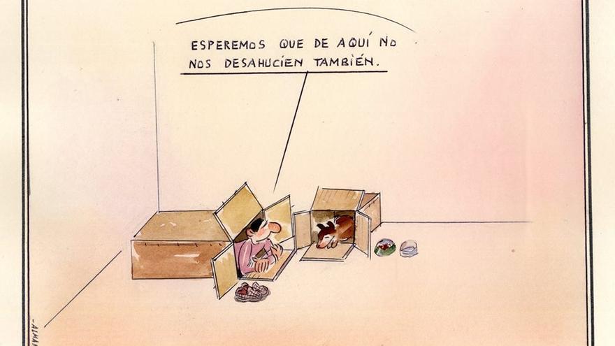 Desahucio. Dibujo: Paco Catalán Carrión