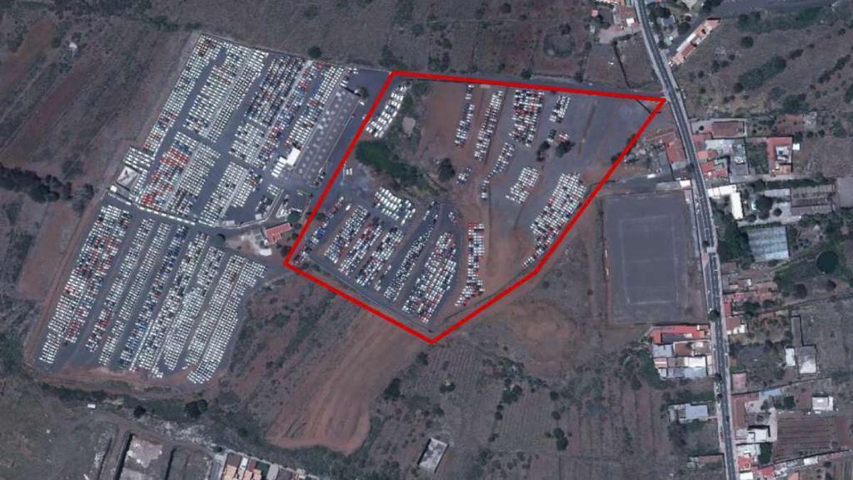 En rojo, las obras realizadas sin licencia en la parcela