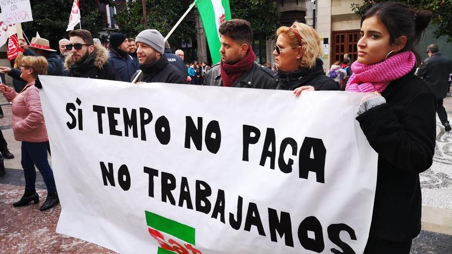 Movilización en defensa de las trabajadoras