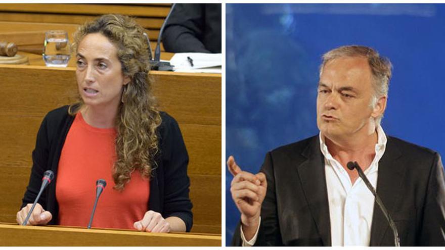 Los eurodiputados valencianos Carolina Punset (C's) y Esteban González Pons (PP)