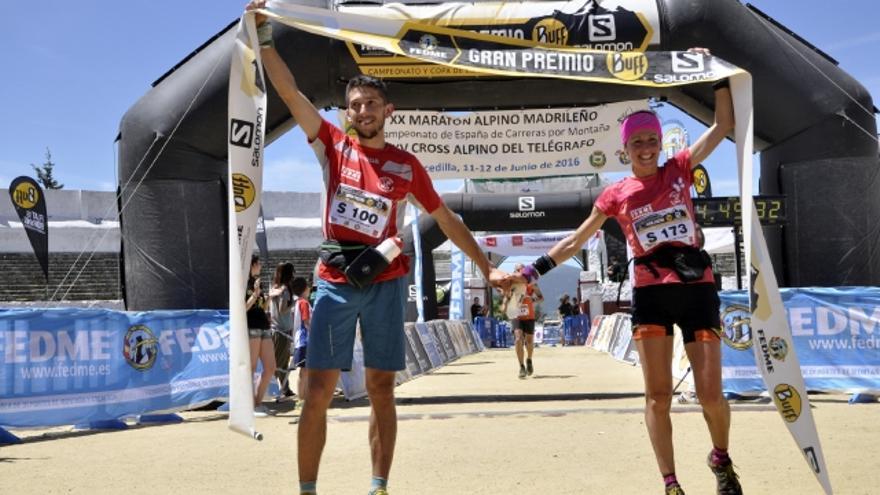Manuel Merillas y Azara García celebrando la victoria (© Sergio Prieto).