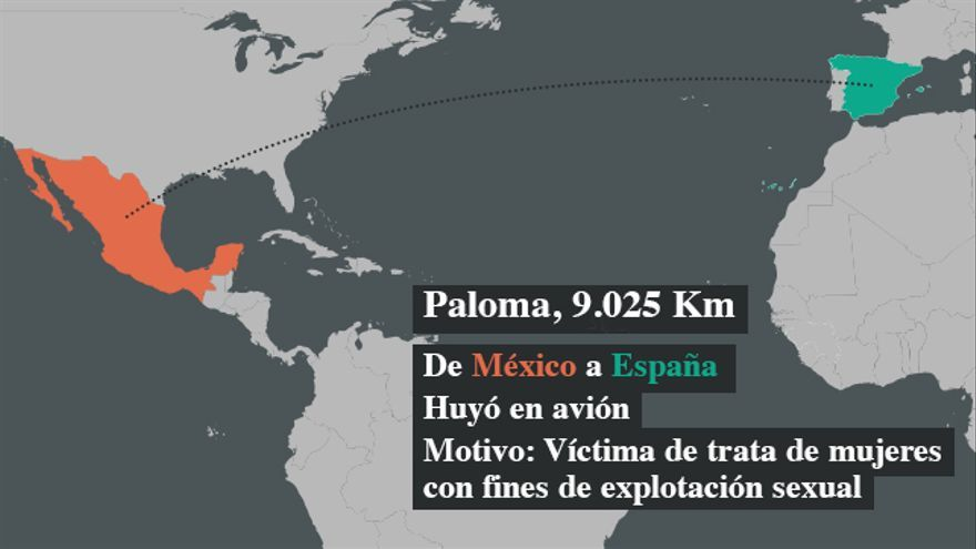 Paloma huyó a España desde México, donde había sido captada por una red de trata de mujeres con fines de explotación sexual
