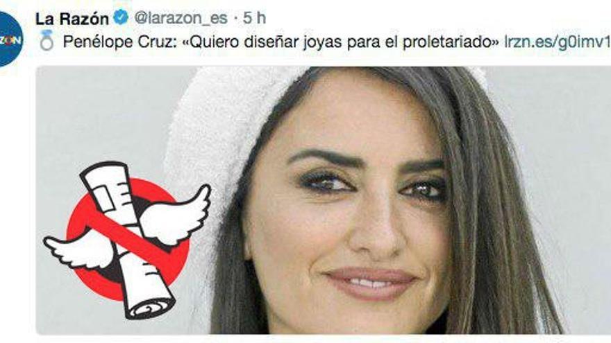 """No, Penélope Cruz no quiere """"diseñar joyas para el proletariado"""""""