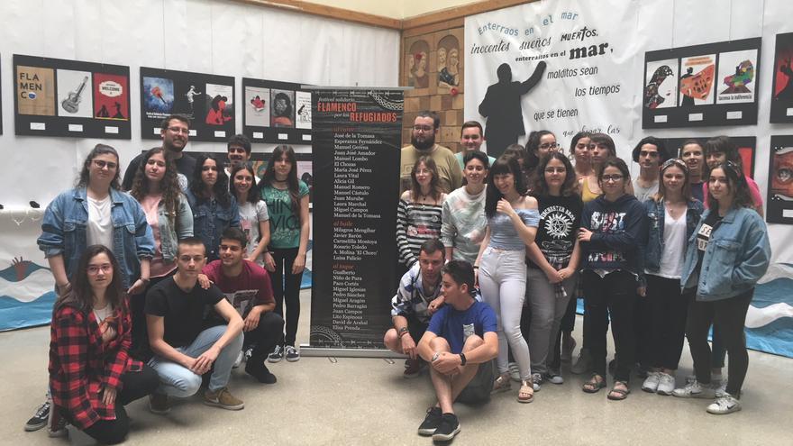 Estudiantes del IES Llanes Sevilla