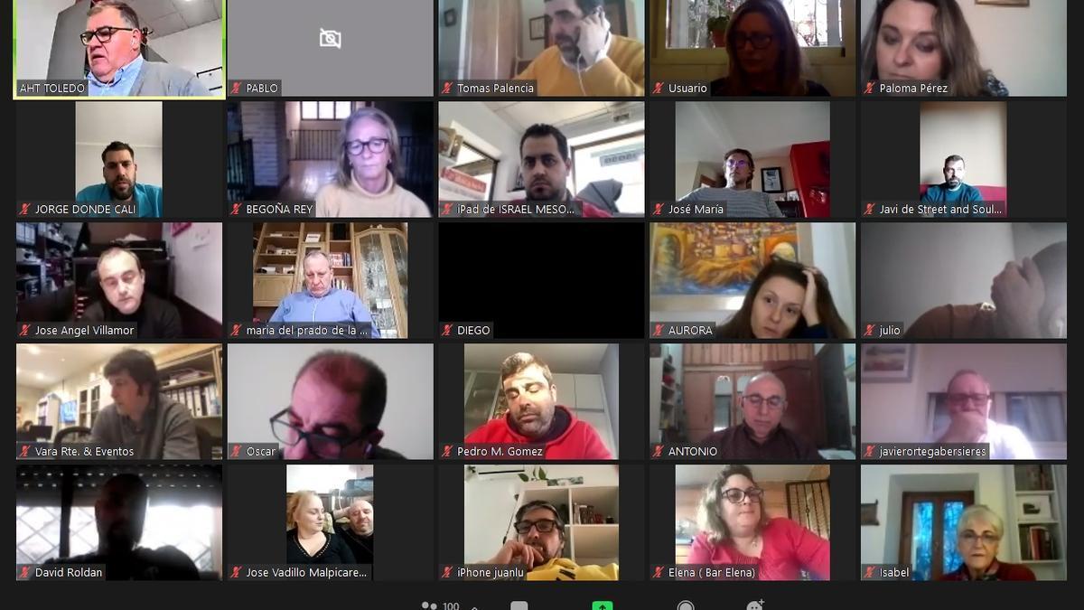 Reunión de hosteleros online
