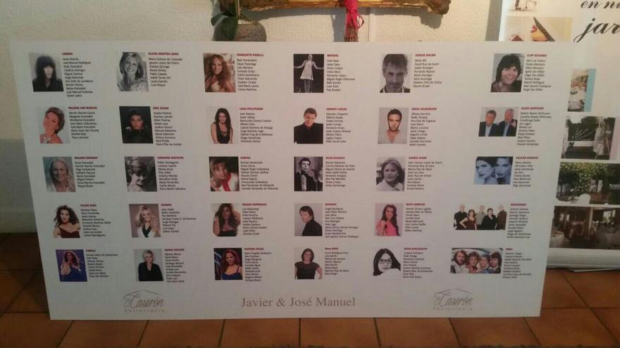 Lista de invitados a la  boda de Javier Maroto
