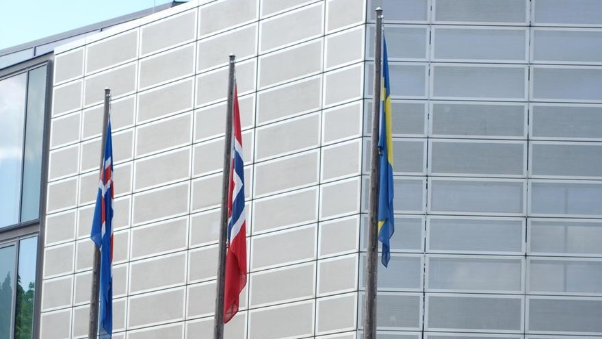 Marineros españoles de la asociación Long Hope se manifiestan por una pensión que el Gobierno noruega les niega.