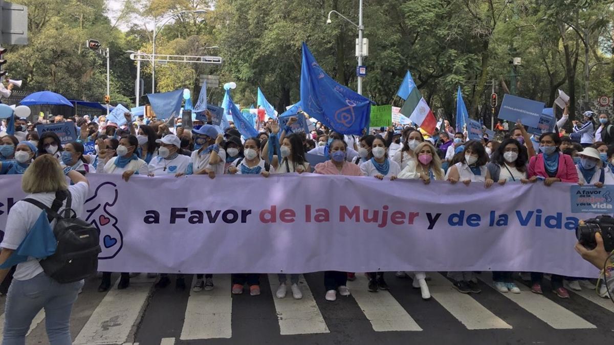 La manifestación exhibió alto nivel de organización.