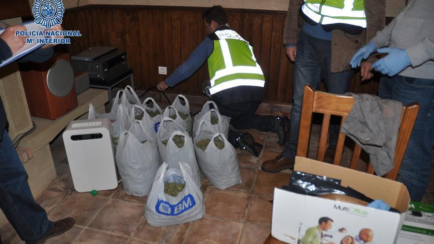 La Policía Nacional de Bilbao desmantela una plantación de marihuana 'indoor' en Castro y detiene a dos personas