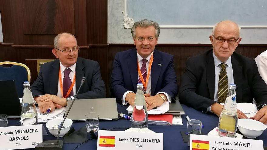 El presidente del CSN (derecha), en una reciente visita a Roma. Foto: CSN