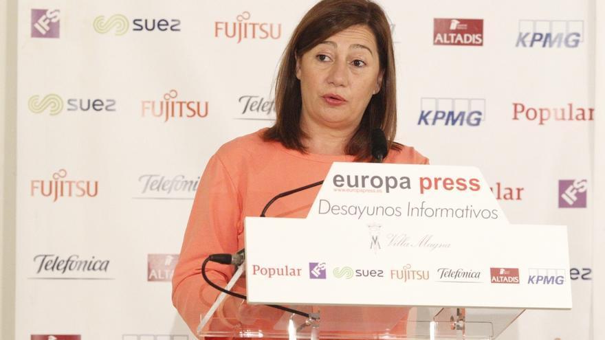 Armengol avanza que Baleares se opondrán también al nuevo objetivo de déficit propuesto por Montoro a las CCAA