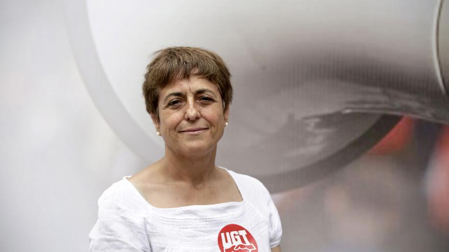 La secretaria general de UGT en Cantabria, María Jesús Cedrún, condenada por coacciones a la huelga, FOTO: OLMO CALVO