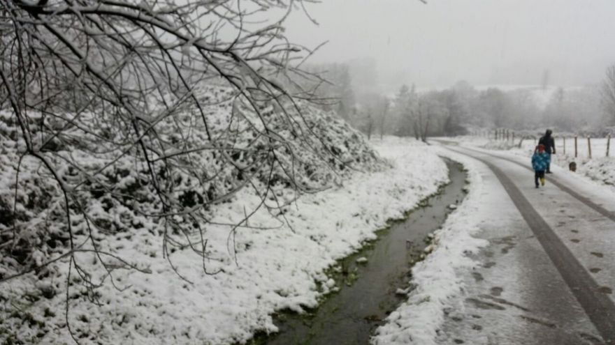 Euskadi seguirá en alerta naranja por nieve durante todo este viernes