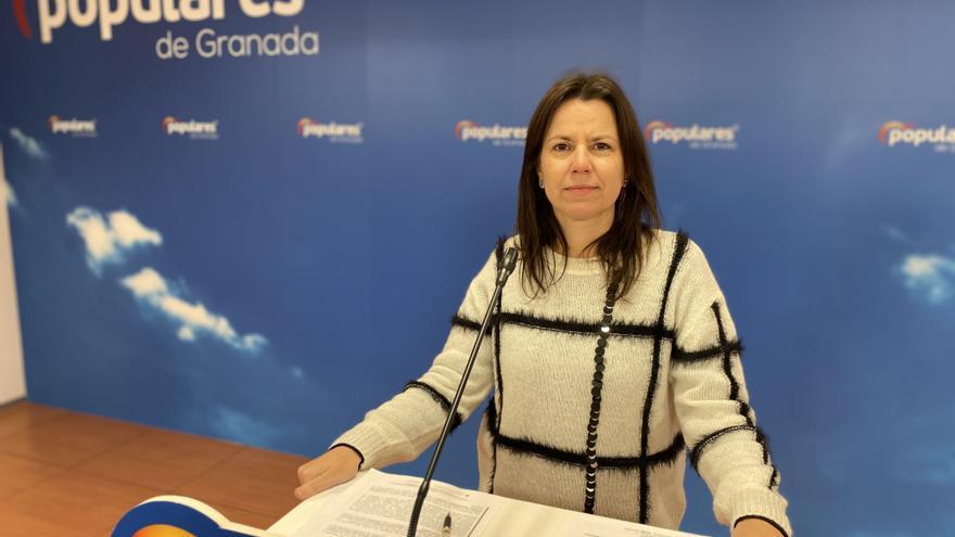 Archivo - La parlamentaria andaluza del PP por Granada Ana Vanesa García en una imagen de archivo