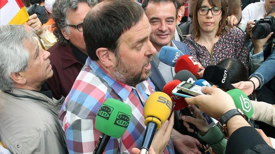 Oriol Junqueras dice que es evidente que la recuperación económica no llega