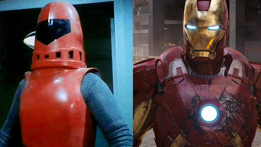 A la izquierda: Exo-Man (1977). A la derecha: Iron Man (2008)