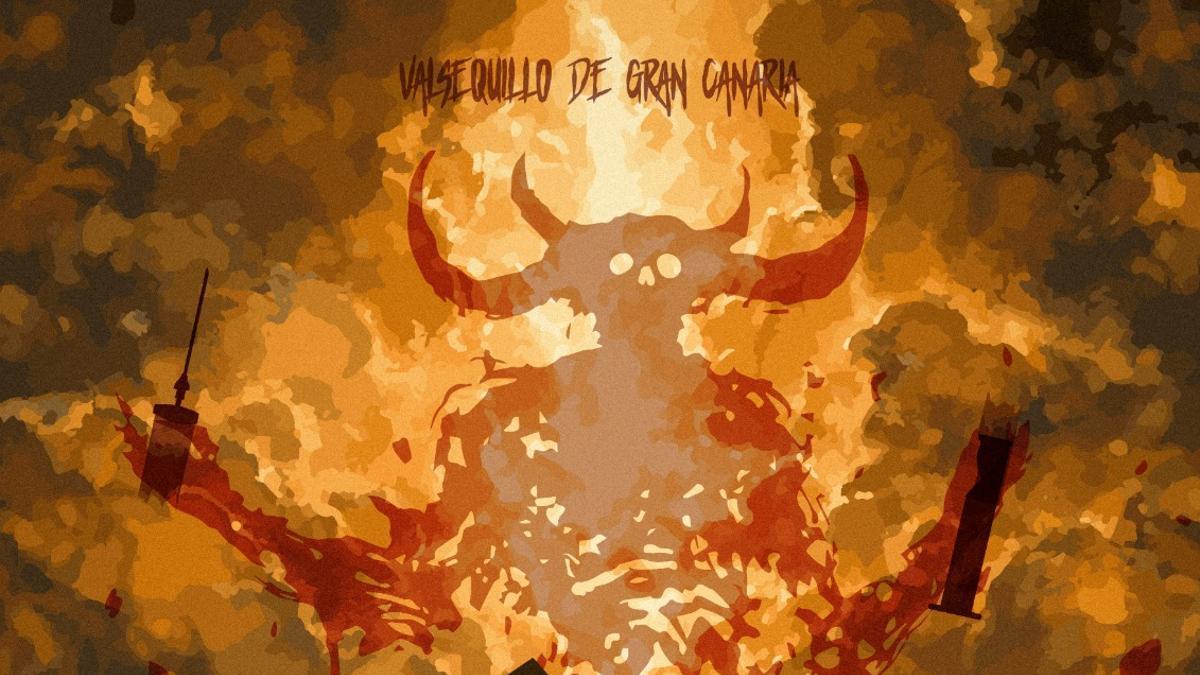 Cartel de la Suelta del Perro Maldito de Valsequillo