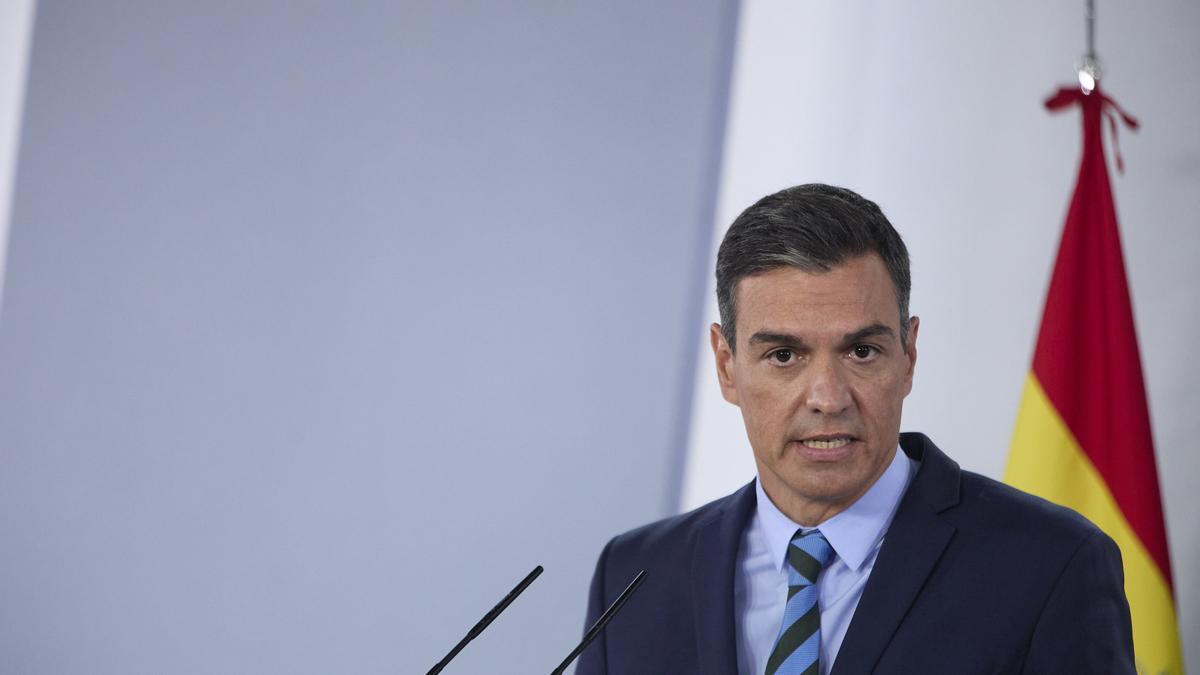 El presidente del Gobierno, Pedro Sánchez, comparece en rueda de prensa