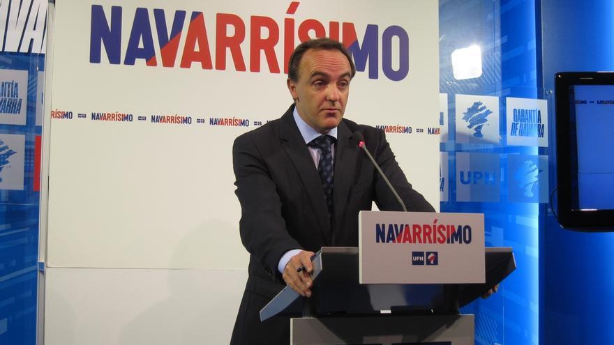 """Esparza afirma que UPN no votará a favor de que haya en Navarra presidenta nacionalista """"en ninguno de los casos"""""""