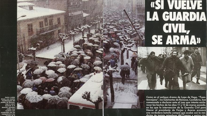 Reportaje de la revista Interviú sobre las protestas de Reinosa.