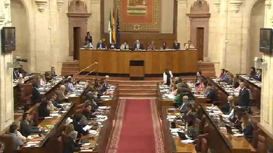 Pleno del Parlamento de Andalucía octubre de 2015.