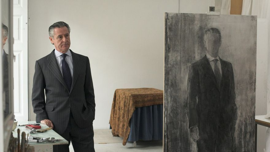 Miguel Blesa, en el estudio de la pintora Carmen Laffón, a finales de 2007.