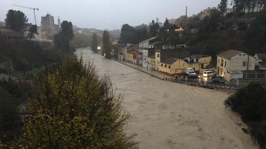 El río Clariano a su paso por Ontinyent