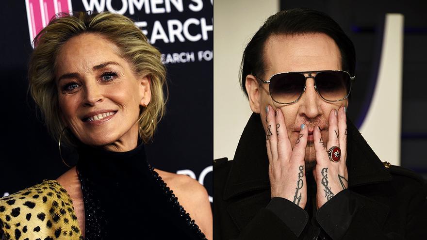 Sharon Stone y Marilyn Manson en imágenes de archivo